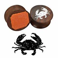 Krabbe gedruckt maßgeschneiderte Holzstempel Tiermuster Stempel