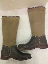 NIB Womens Matisse Conquest Studded Leather Suede Western Riding Tall Boots 8.5