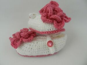 Handmade Lovely   Baby Girls Crochet Knitting Shoes  0-3 months
