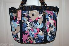 NEW! NWT! JUICY COUTURE Regal Blue Multi Floral Sequin Canvas BEVERLY Tote $228
