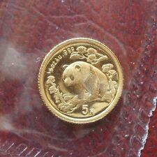 China 1997 Yuan 5 panda oro