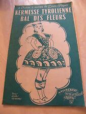 Partition Kermesse Tyrolienne Bal des fleurs V Marceau