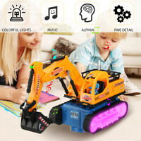 Kids LED Electric Construction Excavator Digger Vehicle Truck Car Toy Birt Gift