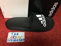 Adidas Men's Adilette Cloudfoam Plus Comfort Slides Adidas Logo Sandals CG3425