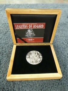 2016 3 oz Odin Ruler of Aesir Silver Coin  Legends of Asgard  Max Relief