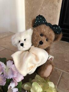 "Boyds Bears MOMMA BEARSLEY & BABY JACK #903203 2000 10"" Plush🐻w/Baby🐻MWT"