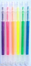 6 PACK JAPANESE HIGHLIGHTER MARKER PENS 6 Colours Seria Maker Pen Water Based
