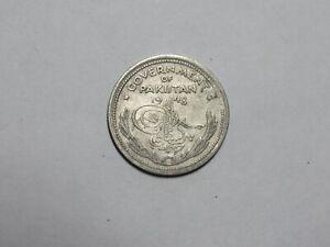 Old Pakistan Coin - 1948 Half Rupee - Circulated, bent