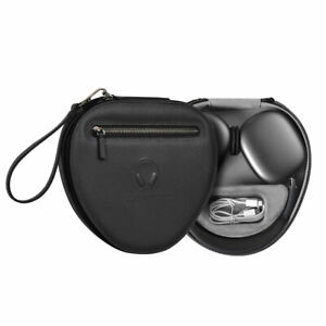 WiWU Leather Headphone Case For AirPods Max with Low Power Mode Handle Hard Bag