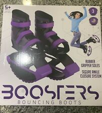 Madd Gear Boosters Bounce Shoes Size 3-6 Black Purple Bouncing Boots Great Buy!!