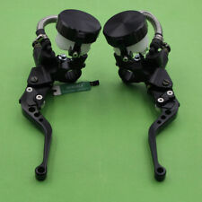 7/8'' Motorcycle Front Hydraulic Brake Master Cylinder Clutch Lever Black 14mm