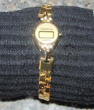 Womens non-working Advance Quartz Digital Wrist Watch Gold Color