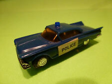MADE IN HONG KONG - VINTAGE AMERICAN POLICE CAR - BLUE  1:60? - VG - PLASTIC
