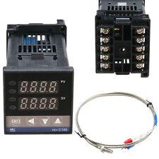 Dual Digital F/C PID Temperature Control Controller + K Thermocouple Thermostat
