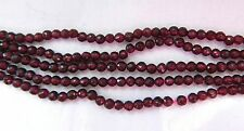 Garnet, Sparkly Little Faceted Rounds,  3-3.5mm Approx, Bag Of 20 Beads