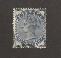 Great Britain stamp # 98, Used, QV, 1884, 4 margins, light cxl, exquisite!