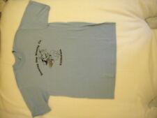 New Mens Blue Dancing Dog T shirt M 38-40 StedmanCotton