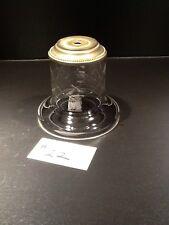 VINTAGE GLASS LAMP CRYSTAL LIGHT BASE CRISS CROSS BREAK/SPACER