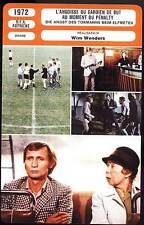 L'ANGOISSE DU GARDIEN DE BUT... - Wim Wenders (Fiche Cinéma) 1972
