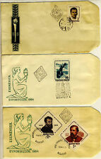 3 HUNGARY FIRST DAY COVERS - 1961 & 1964 Esemenyek Evfo