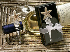 100 Beach Sand Starfish Wine Bottle Stopper Bridal Wedding Favor in Gift Box