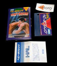 Heavy boxing msx msx2 rom jap Complete Hal laboratory hm-008