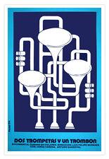 Cuban movie Poster 4 film Trumpets and HORNS.Trompeta.Jazz Music.Musical Art.