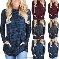 Women Long Sleeve Hoodie Sweatshirt Sweater Hooded Jumper Coat Pullover Tops New