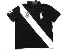 New Ralph Lauren Polo 100% Cotton Slim Fit Crested Black Big Pony Shirt sz XXL