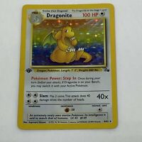 1st Edition Dragonite 4/64 Fossil - Holo - Vintage WOTC Pokemon Card EXC/NM 1999