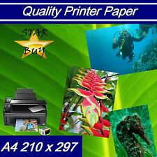 A4 180 GSM X 500 Sheets Silk 2 Sided Printer Paper - Laser - Digital - Craft