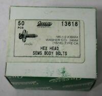 50 Hex Head Sems Body Bolts Auveco #18416 GM OEM 11505044 General Purpose