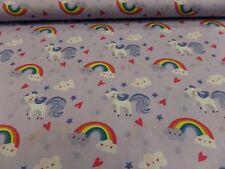 tessuto per bambini - Unicorno M.ARCOBALENO - 100% Baumwolle ca. 150 cm OGNI 50
