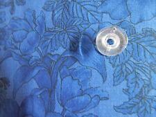 100% Cotton 42/44 Springs Dk Blue W/Lg Floral Design Quilt/ Craft Fabric