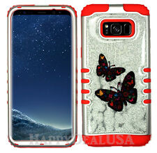 for Samsung Galaxy S8 & Plus KoolKase Hybrid Cover Case - Glitter Butterfly 56