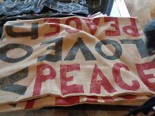 Pottery Barn Christmas burlap Love Peace Joy  Pillow cover 16 X 26   New