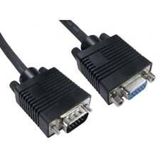 0.5m Super VGA SVGA PC Monitor Extension Cable Lead Male To Female 15 Pin Black