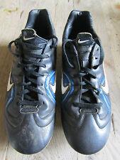 NIKE FOOTBALL BOOTS BLACK/BLUE/WHITE SIZE UK 5.5  EU 38.5
