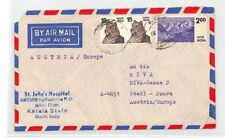 CA361 1970s India ST.JOHNS HOSPITAL *Kerala* Airmail Cover MISSIONARY MEDICAL
