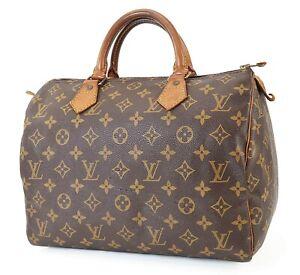Authentic LOUIS VUITTON Speedy 30 Monogram Boston Handbag Purse #39856