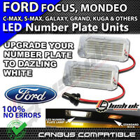 2x 18 SMD FORD MONDEO CMAX FOCUS FIETA LED WHITE NUMBER PLATE UNIT LIGHTS