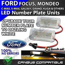 * x2pc 18 SMD FORD MONDEO CMAX FOCUS FIETA LED WHITE NUMBER PLATE UNIT LIGHTS
