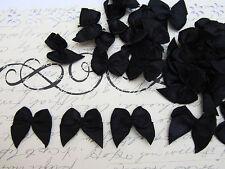 "100 Pre-made Satin Ribbon 3/4"" Bow Trim/sewing/Craft/Sewing *US Seller F17-Black"