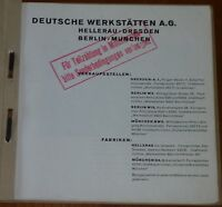 RARITÄT:Deutsche Werkstätten Hellerau München Berlin Katalog 1929