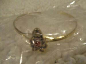 "McDonald's Child's Gold Colored Bracelet with 5/8"" Grimace Attached New Sealed"