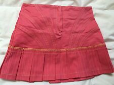 Girls EURO LUXE Watermelon Pink PLEATED Mini SHORT SKIRT ITALY 60 5 VERDE & MELA