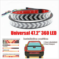 """47.2""""Arrow Style LED Tailgate Light Bar Flowing Turn Signal Double Flash Lights"""