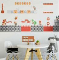 Super Mario Large Wall Sticker Kid Nursery Decor Boy Decor Vinyl Game Decal Gift