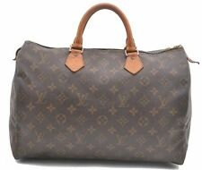 Authentic Louis Vuitton Monogram Speedy 35 Hand Bag M41524 LV A4350