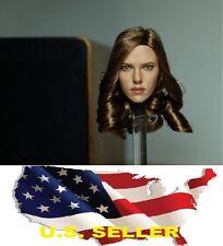 1/6 Scarlett Johansson Black Widow 5.0 Head Sculpt Capital America 3 US IN STOCK